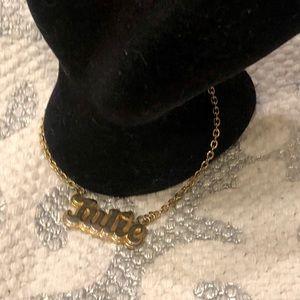 Vintage Julie Gold Tone Personalized Name Bracelet